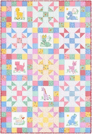 CREATURE COMFORT QUILT KIT, BY ROBERT KAUFMAN