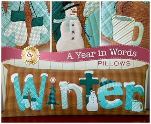 A YEAR IN WORDS ,WINTER  JANUARY PILLOW PATTERN, BY SHABBY FABRICS
