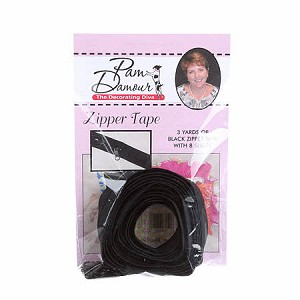 ZIPPER TAPE BLACK, BY DECORATING DIVA