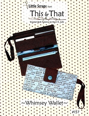 LITTLE SCRAP WHIMSY WALLET PATTERN